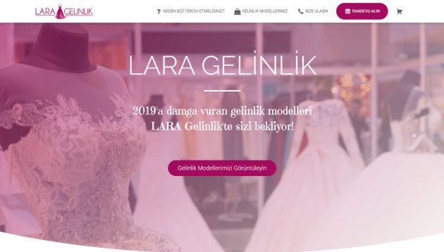 laragelinlik.com - Uşak'ın seçkin gelinlik mağazası LARA Gelinlik için WordPress altyapısıyla sıfırdan hazırladığım web sitesi